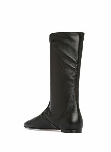 Aquazzura Deri Çizme Siyah